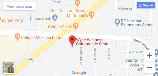 Map of Wylie TX Chiropractors